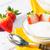 strawberry yogurt stock photo © fotoedu