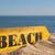 wood sign beach stock photo © fotoedu