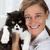 veterinario · clínica · gatito · gato · mujeres - foto stock © fotoedu