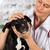 veterinário · cão · americano · veterinário · sorrir · olho - foto stock © fotoedu