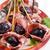 sonka · bemutató · edény · gyümölcs · piros · hús - stock fotó © Fotografiche