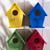 evleri · kuşlar · küçük · renkli · evler · barınak - stok fotoğraf © Fotografiche
