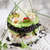 tower of black and white rice with shrimp and zucchini stock photo © fotografiche