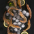 citrom · bemutató · szám · asztal · fekete · tenger - stock fotó © Fotografiche