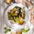 soep · zeevruchten · presentatie · brood · tomaat - stockfoto © Fotografiche