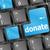 donare · soldi · blu · tastiera · pulsante - foto d'archivio © fotoscool