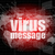 internet concept words virus message on digital screen stock photo © fotoscool