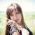 девушки · пшеницы · красивая · девушка · букет · желтый · трава - Сток-фото © FotoVika