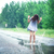 młoda · dziewczyna · lasu · kobieta · wiosną · trawy · muzyka - zdjęcia stock © fotovika