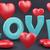 слово · любви · красный · сердце · 3D · 3d · визуализации - Сток-фото © fotovika