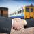 businessman handshake with train transportation logistic backgro stock photo © frameangel