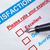 customer satisfaction survey checkbox with rating and pen pointi stock photo © frameangel