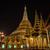 pagoda · éjszaka · Burma · Délkelet-Ázsia · út · épület - stock fotó © frameangel