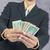 üzletember · Euro · pénz · fehér · üzlet · portré - stock fotó © frameangel