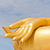 big golden buddha hand statue in thaland temple stock photo © frameangel