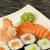 маки · суши · пластина · имбирь · wasabi - Сток-фото © frank11