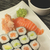 sushi on a plate with soy sauce stock photo © frank11