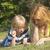 menino · telefone · criança · móvel · falante - foto stock © frank11