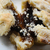 crumbly christmas mince pie with filling exposed stock photo © frannyanne