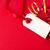 geschenk · tag · Rood · goud · lint · witte - stockfoto © frannyanne