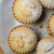 overhead of christmas mince pies on plate stock photo © frannyanne
