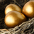 Close Up of Gold Eggs in Nest stock photo © frannyanne
