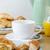 ontbijt · koffie · sinaasappelsap · croissant · voedsel · ontspannen - stockfoto © frannyanne