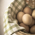 vers · bruin · witte · eieren · doek · boerderij - stockfoto © frannyanne