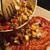pizza · preparação · molho · de · tomate · mesa · de · madeira · pão · folhas - foto stock © frannyanne