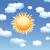 nublado · cielo · Cartoon · sol · nubes · naturaleza - foto stock © freesoulproduction