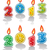 velas · establecer · 10 · color · bebé · fiesta - foto stock © freesoulproduction