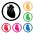 malattie · cardiache · prevenzione · icona · design · isolato · illustrazione - foto d'archivio © freesoulproduction