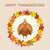 vector turkey for thanksgiving day and autumn leaves stock photo © freesoulproduction