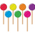 vector collection of colorful lollipop candy balls stock photo © freesoulproduction