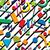 caótico · patrón · sin · costura · moda · mosaico · curvas - foto stock © freesoulproduction