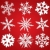 set of 9 snowflakes stock photo © freesoulproduction