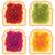 ベクトル · セット · 白 · トースト · パン · スライス - ストックフォト © freesoulproduction