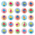 vector colorful cupcakes icons with flat shadow stock photo © freesoulproduction
