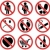 vector set of prohibition signs stock photo © freesoulproduction