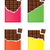 vector dark chocolate bars with a piece of chocolate bar stock photo © freesoulproduction