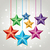 vector colorful christmas stars stock photo © freesoulproduction