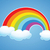 vector rainbow and clouds in the sky stock photo © freesoulproduction