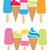 ijs · vector · verschillend · ijs · smaken · zomer - stockfoto © freesoulproduction