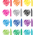 vector colorful set of crayons and heart drawings stock photo © freesoulproduction