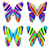 colorful butterflies stock photo © freesoulproduction