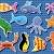 vektor · színes · tengeri · állatok · víz · szemek · terv - stock fotó © freesoulproduction