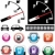 vector illustration of gas gauge and icons of petrol station stock photo © freesoulproduction