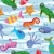 vector background of colorful sea animals stock photo © freesoulproduction