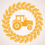 vector design of wheat border with symbol of tractor stock photo © freesoulproduction