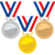 vector set of gold silver and bronze medals stock photo © freesoulproduction